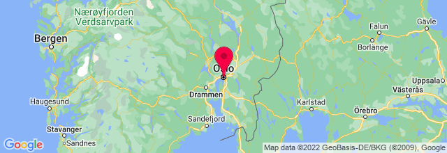 Map of Oslo, Norway