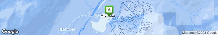 Map of The Bake Shop at Alyeska Resort