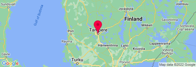 Map of Tampere, Finland