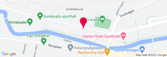 Map for Norrporten Arena