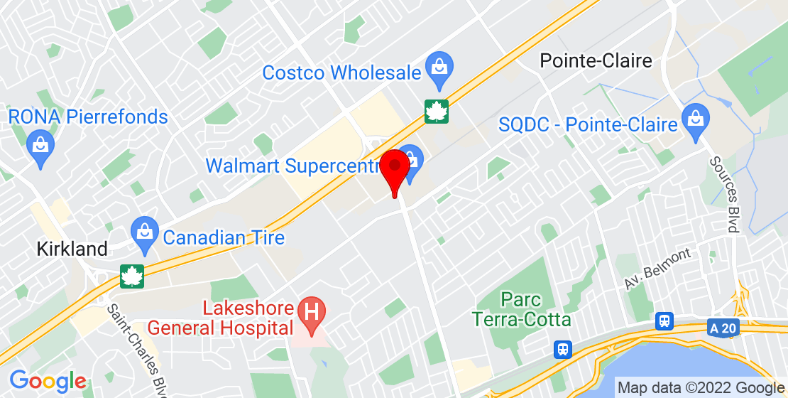 Google Map of 620 Boul Saint-Jean, Pointe-Claire, QC H9R 3K2