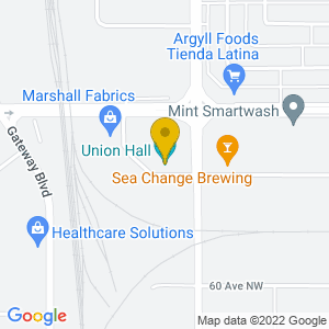 Map to Union Hall provided by Google