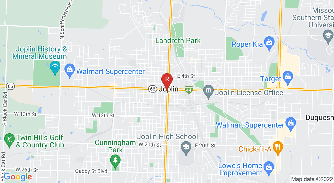 Google Map of 712 S Main St Joplin, Missouri 64801