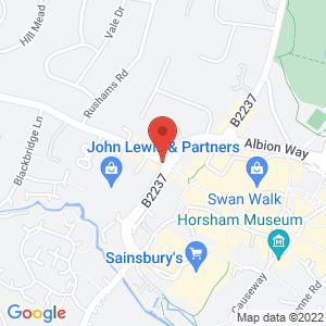 Location of Cloud Gallery - Horsham