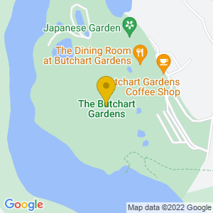 Map to Butchart Gardens provided by Google