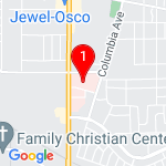 Google Map of 801+MacArthur+Blvd+Munster+IN+46321+219-836-2201