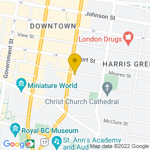 Map to Royal and McPherson Theatre provided by Google