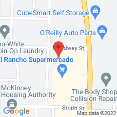 Google Map of 825 North McDonald Street, McKinney, Texas 75069
