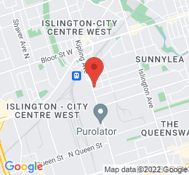 Google Map of 867+Kipling+Avenue%2CEtobicoke%2COntario+M8Z+5H1