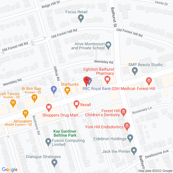 Google Map of 882 Eglinton Ave W Toronto, ON M6C 2B6