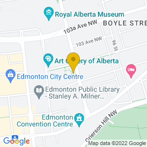 Map to Winspear Centre ( Edmonton ) provided by Google