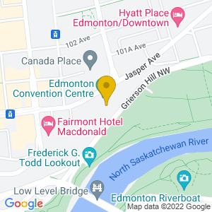 Map to Shaw Conference Centre provided by Google