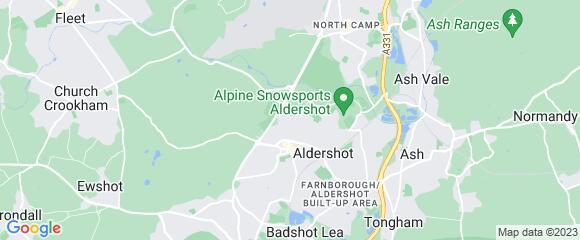 Location map for carpet fitter in Aldershot, Surrey, GU11
