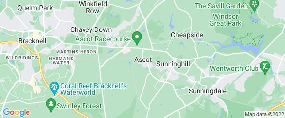 Location map for carpet fitter in Ascot, Berkshire, SL5