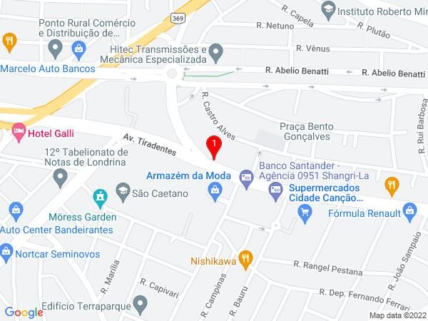 Google Map of Avenida Tiradentes, 1460 londrina