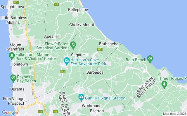 Show map of Barbados