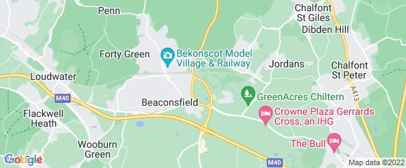 Location map for carpet fitter in Beaconsfield, Berkshire, HP9