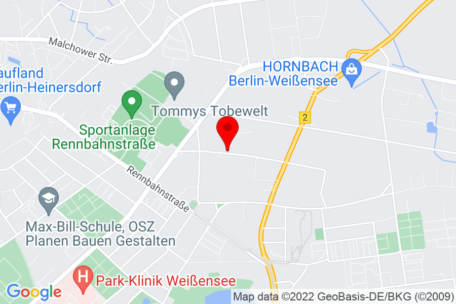 Google Map of Berlin, gehringstr.51