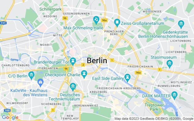 Show map of Berlin