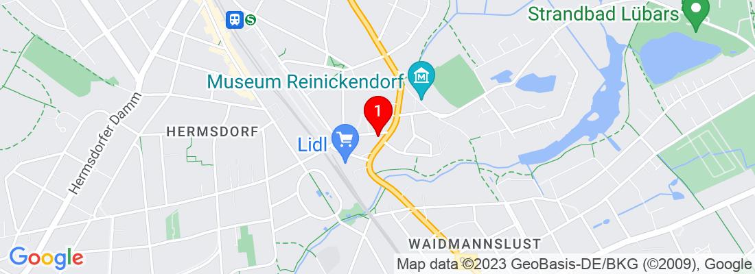 Google Map of Berlin-Reinickendorf