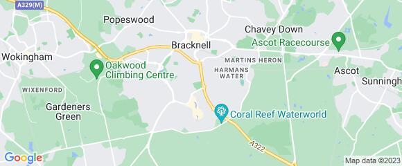Location map for carpet fitter in Bracknell, Berkshire, RG12