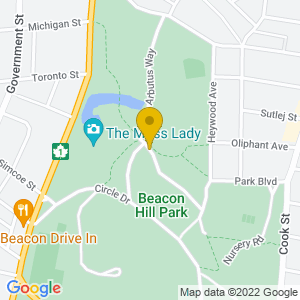 Map to Cameron Bandshell provided by Google