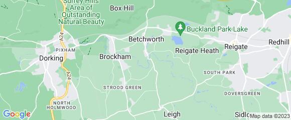 Location map for carpet fitter in Brockham, Surrey, RH3