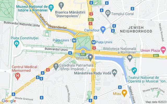 Show map of Bucharest