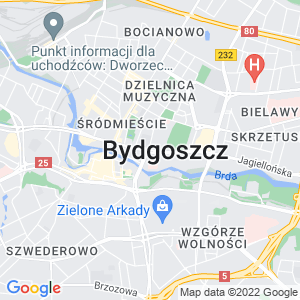 Google Map of Bydgoszcz