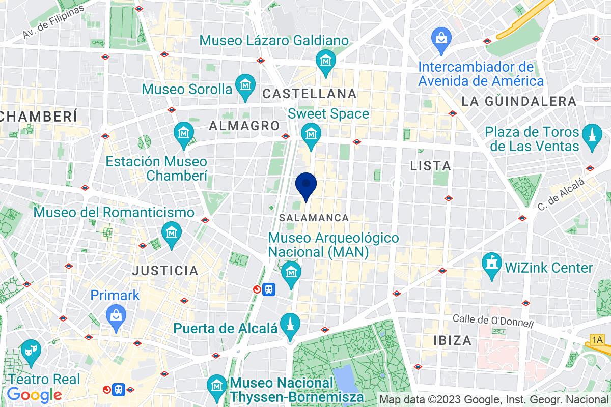 Google Map of Calle Serrano 43, 28001 Madrid