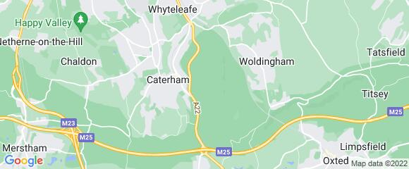 Location map for carpet fitter in Caterham, Surrey, CR3