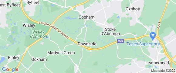 Location map for carpet fitter in Cobham, Surrey, KT11