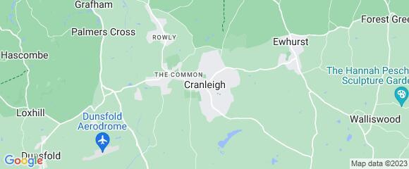 Location map for carpet fitter in Cranleigh, Surrey, GU6