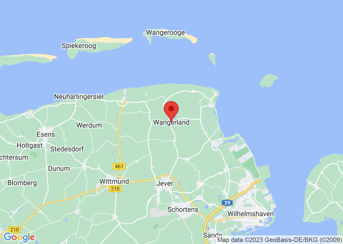 Dorf Wangerland auf Google Maps