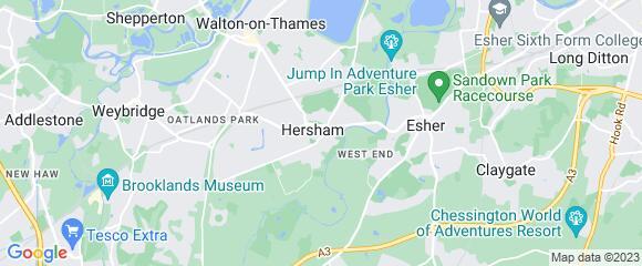 Location map for carpet fitter in Elmbridge, Surrey