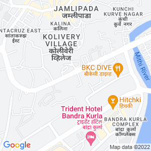 Google Map of Unit No. 2F, First Floor, Central Plaza, 166, CST. Road, Kalina, Mumbai 400098