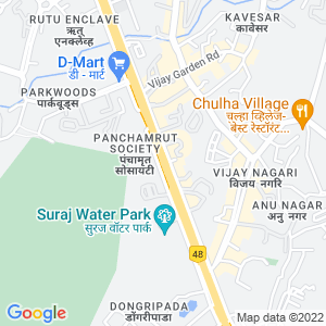 Google Map of Ghodbunder Road, Thane