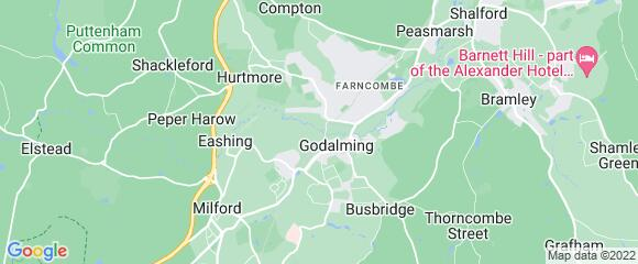 Location map for carpet fitter in Godalming, Surrey, GU7