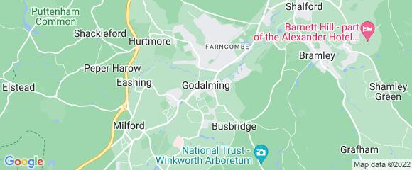 Location map for carpet fitter in Godalming, Surrey, GU8
