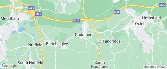 Location map for carpet fitter in Godstone, Surrey, RH9