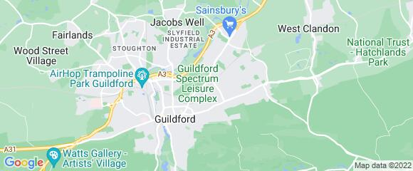 Location map for carpet fitter in Guildford, Surrey, GU1
