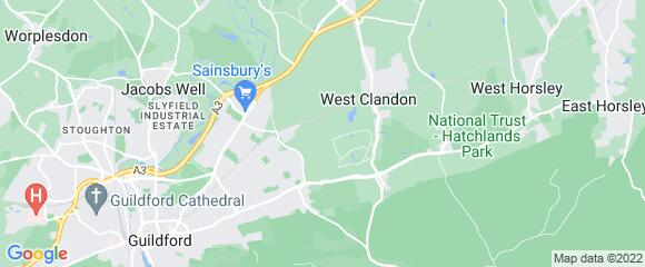 Location map for carpet fitter in Guildford, Surrey, GU4