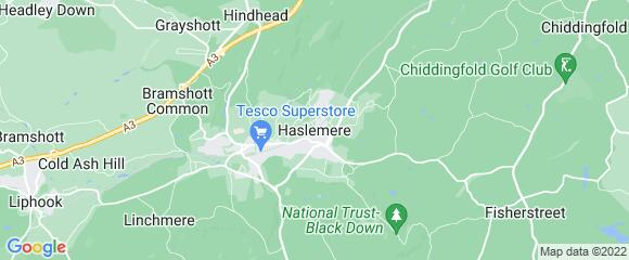 Location map for carpet fitter in Haslemere, Surrey, GU27
