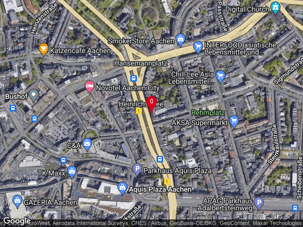 Google Map of Heinrichsallee 52, 52062 Aachen