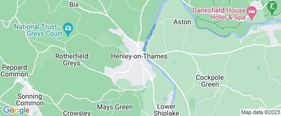 Location map for carpet fitter in Henley-on-Thames, Berkshire, RG9