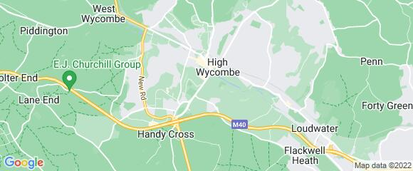 Location map for carpet fitter in High Wycombe, Berkshire, HP11