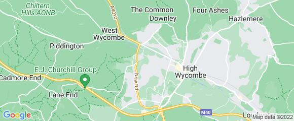 Location map for carpet fitter in High Wycombe, Berkshire, HP12