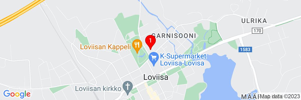 Google Map of Itäinen Tullikatu 10, 07900 Loviisa