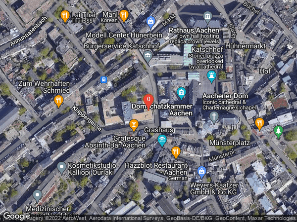 Google Map of Johannes-Paul-II.-Straße 1, 52062 Aachen