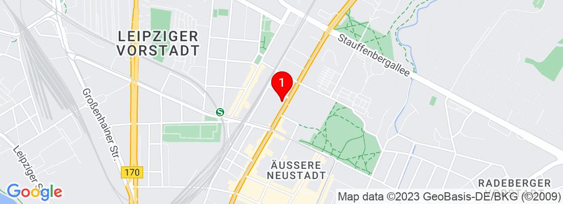 Google Map of Dresden